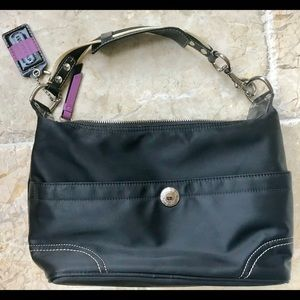 Barely used coach purse , black satchel